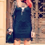 Transparent Lace Dress
