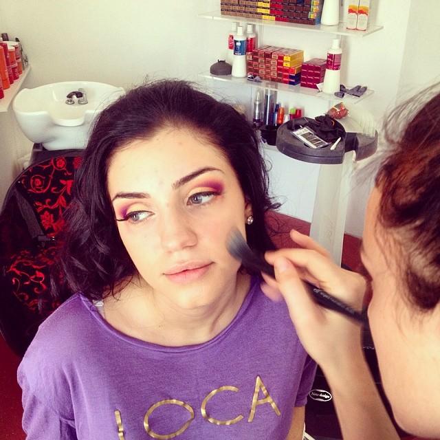 fashion photoshoot make-up