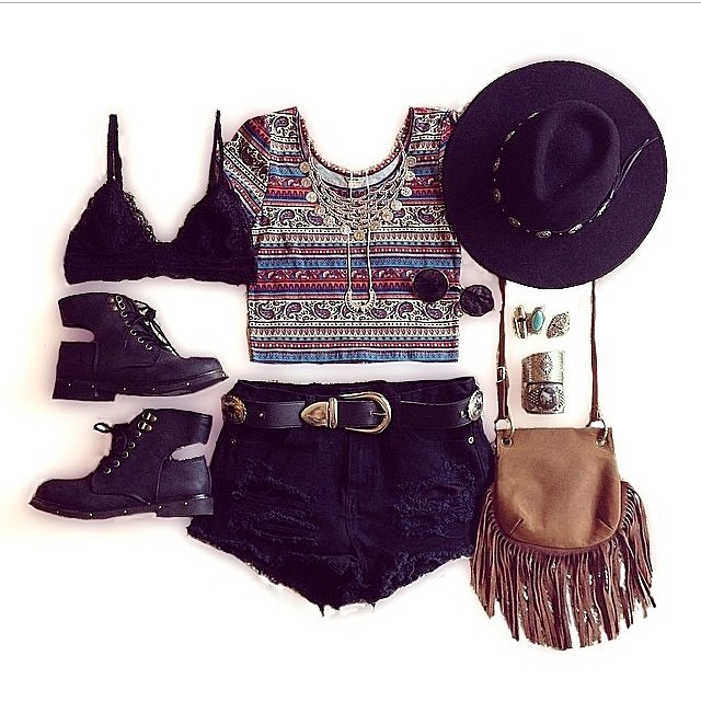 boho inspired summer outfit