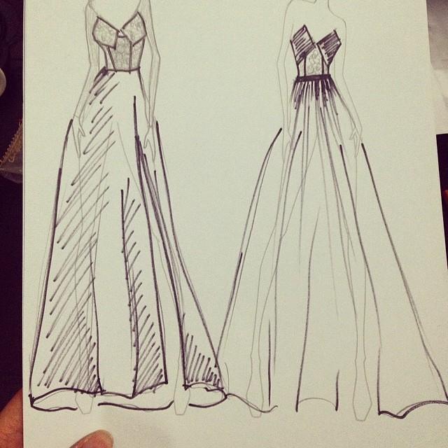 deisgner fashion sketch