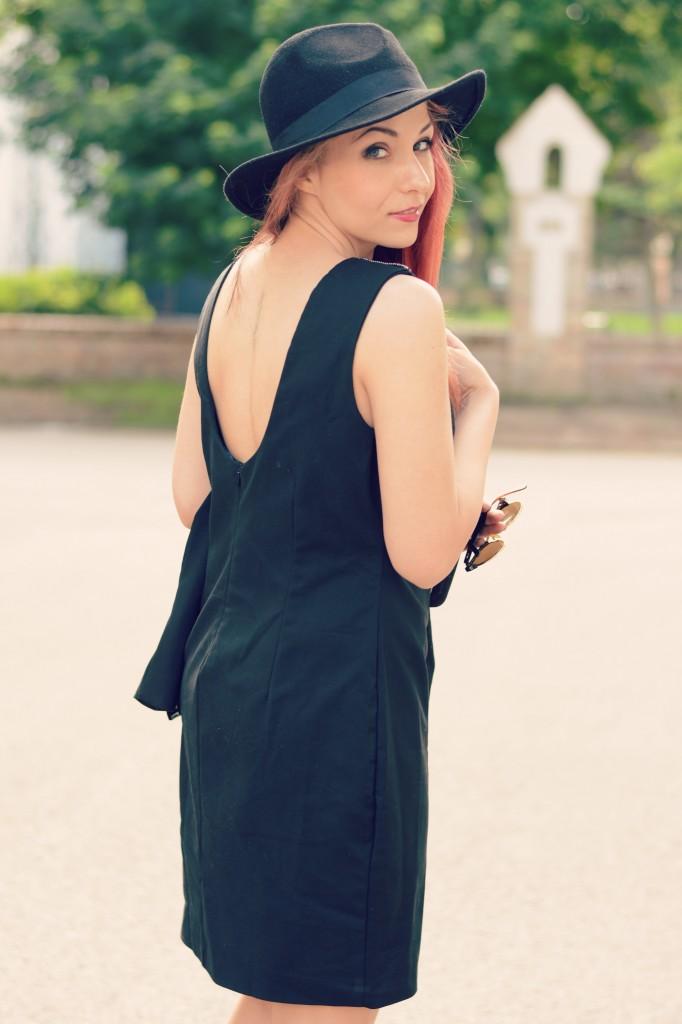 open black dress