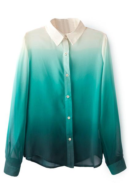 ombre elegant shirt cheap