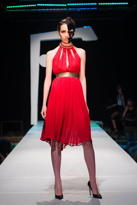 badstyle red chain dress