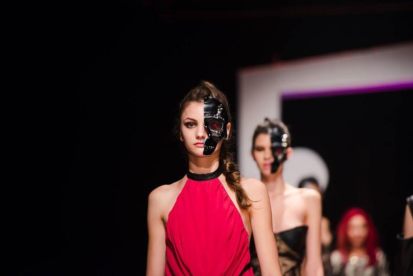 skull mask fashion show