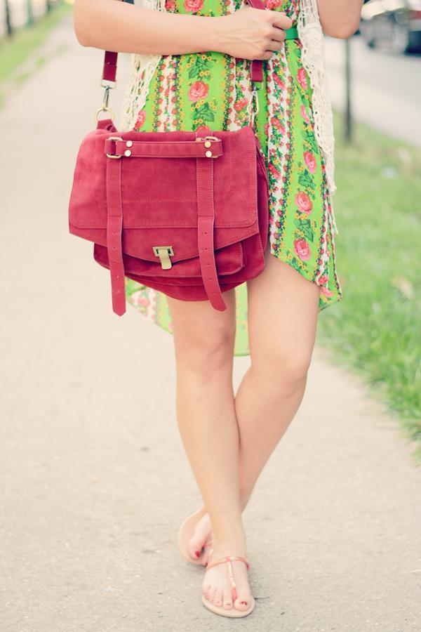 big  red satchel