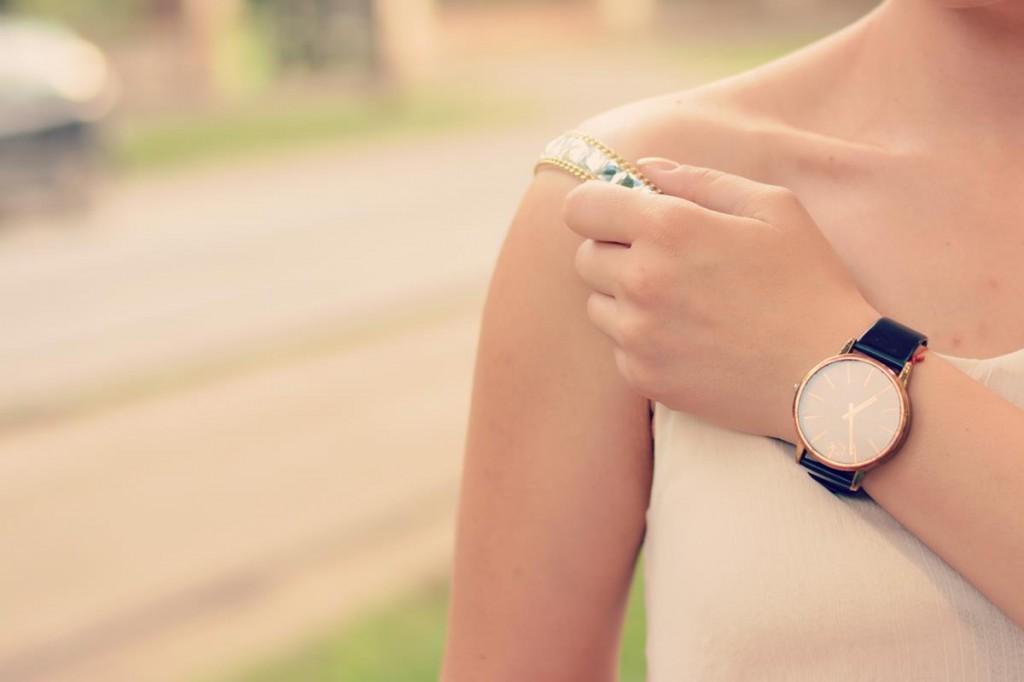 studded strap ck watch