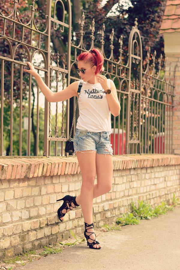 heels fashion shorts