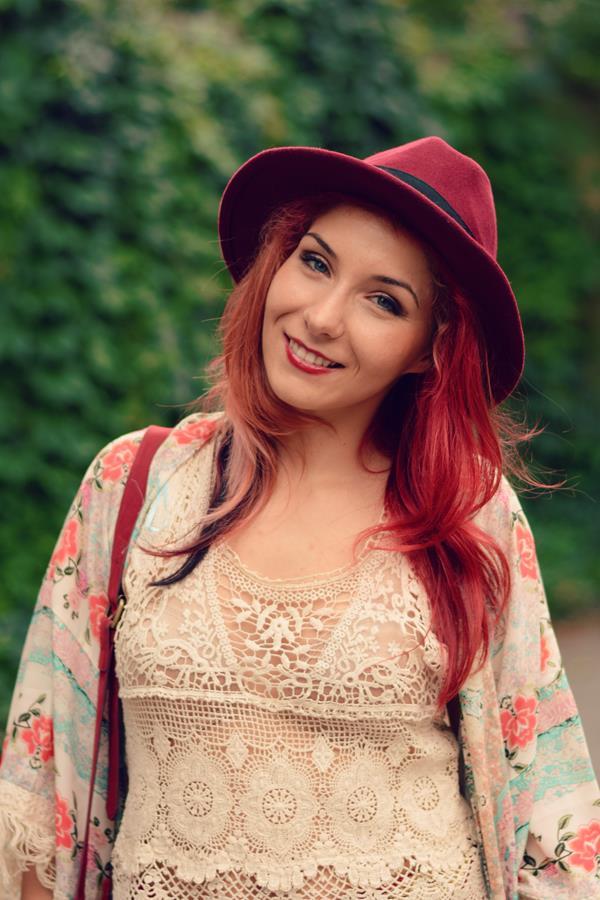 boho redhead