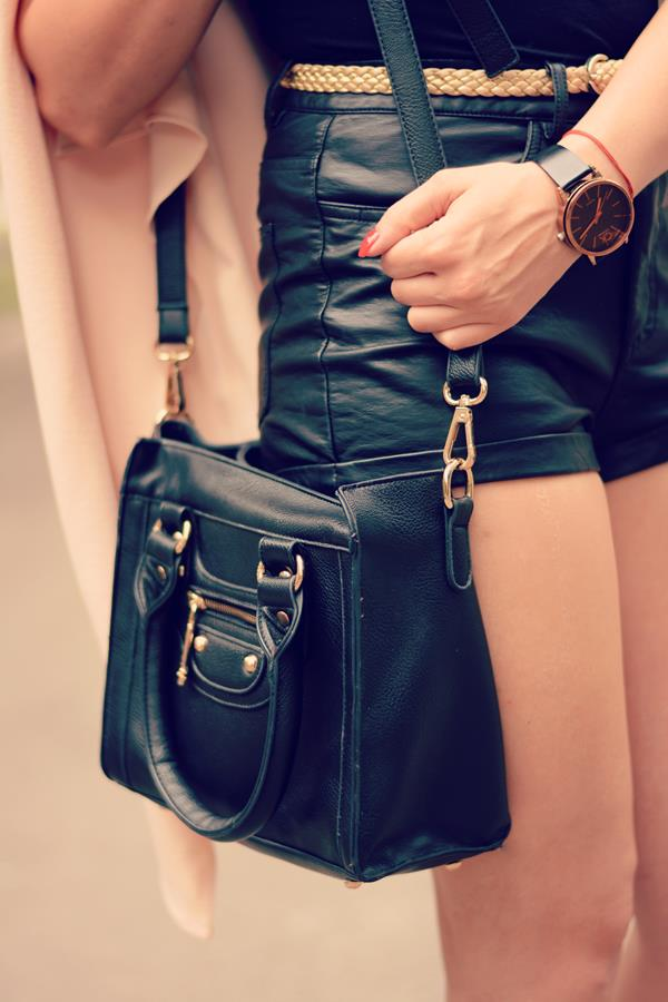 leather and gold details