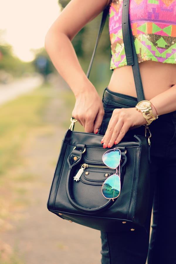 mini tote details ray-ban mirror