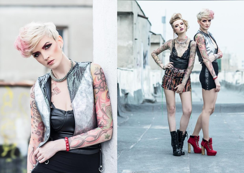 tattoo sleeves girl fashion leather