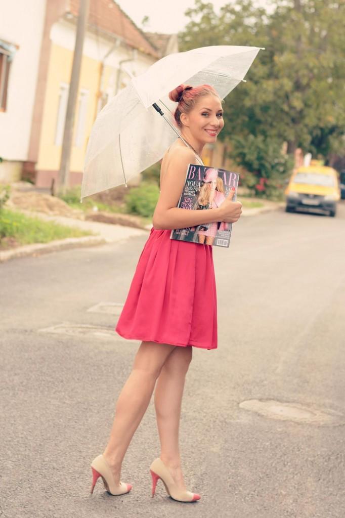 harper's bazaar wear pink