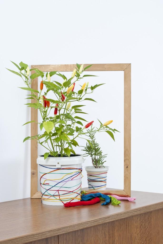 plant pot thread diy