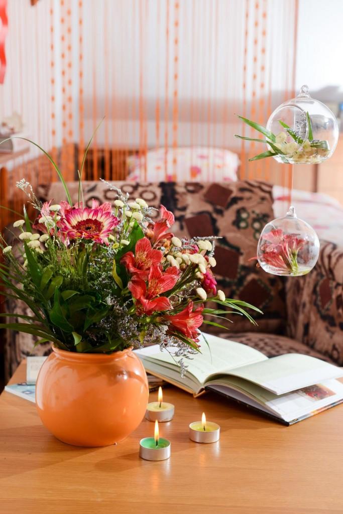glass bubbles flowers