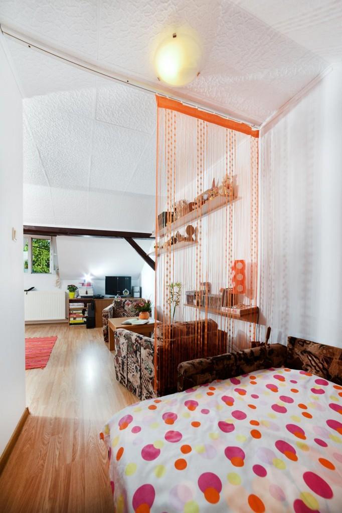 fringe orange bedroom