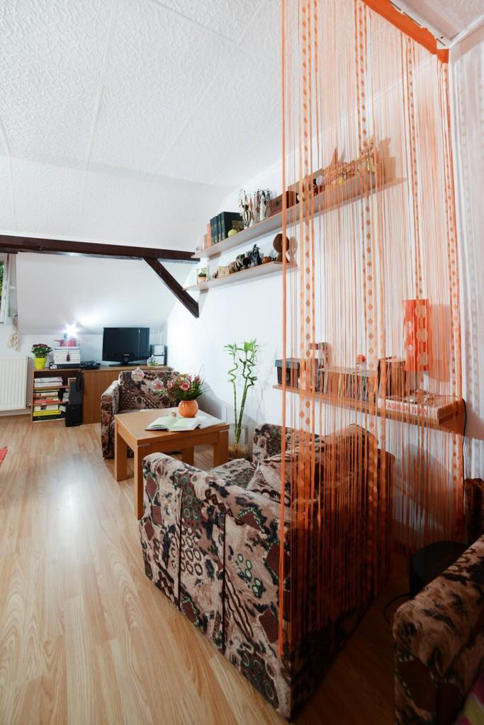 simple attic room