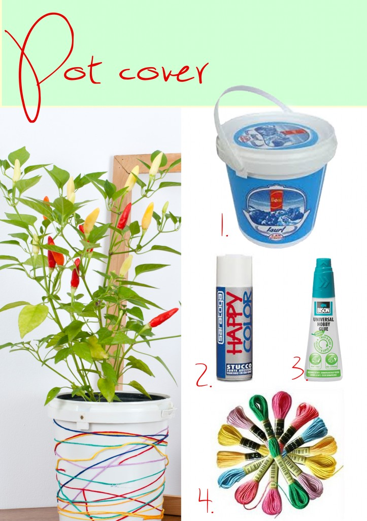diy plant pot cover paint thread