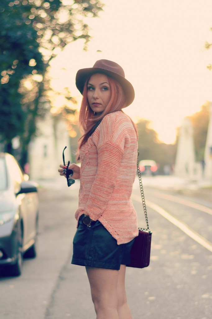 sunset colors-knits