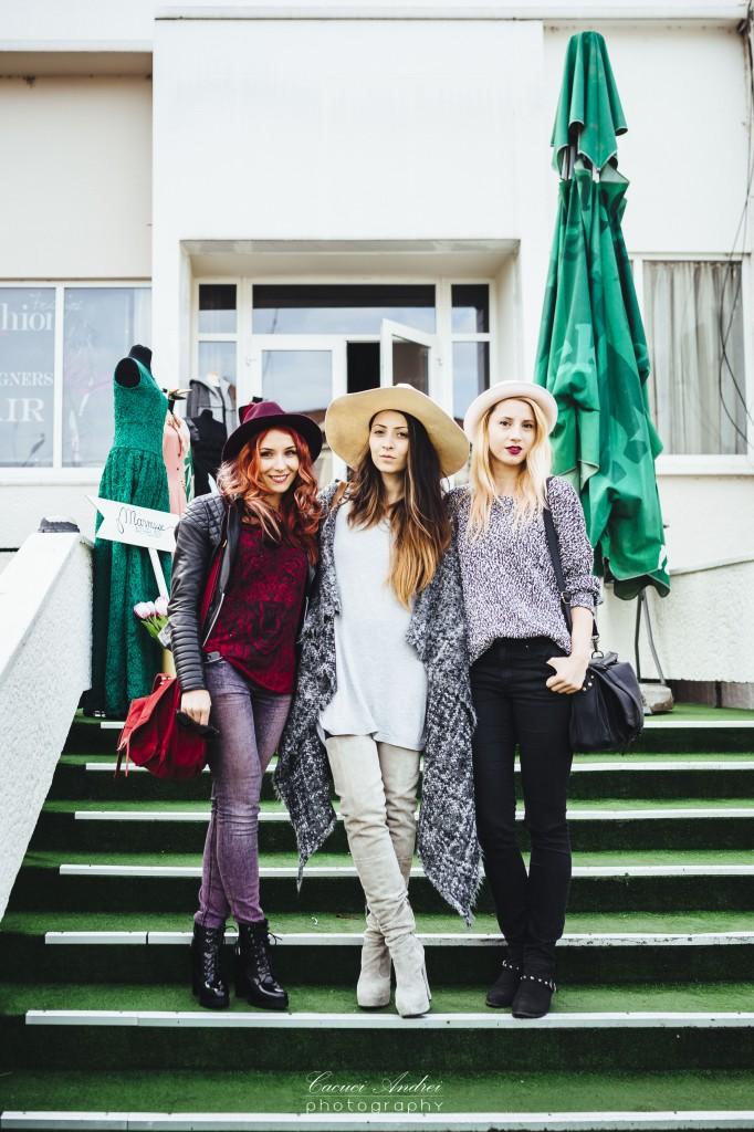 blogger friends at the fashion fair