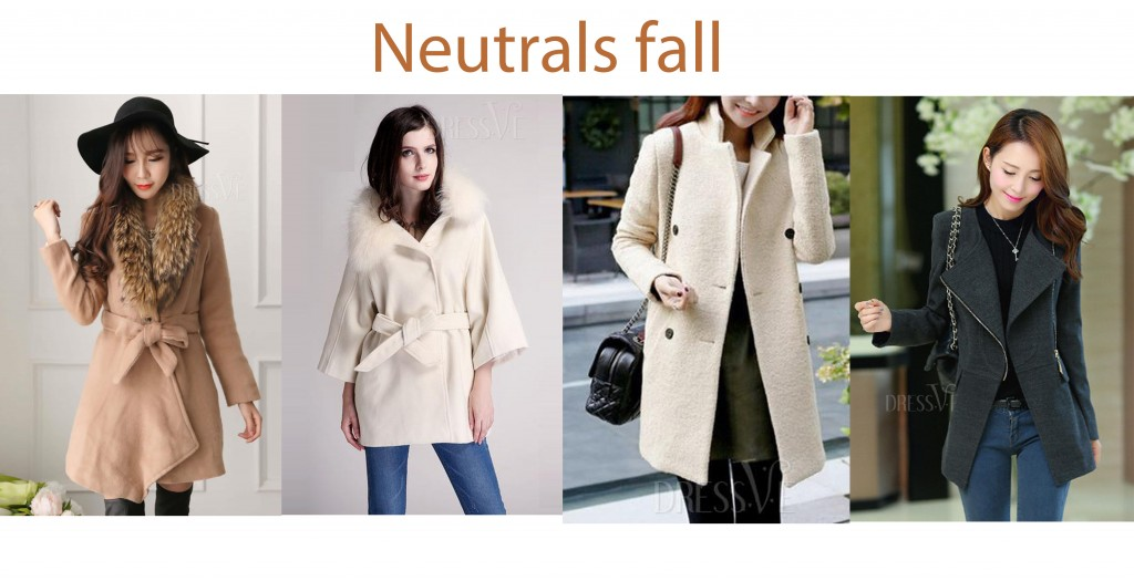 neutral cheap fur collar coats