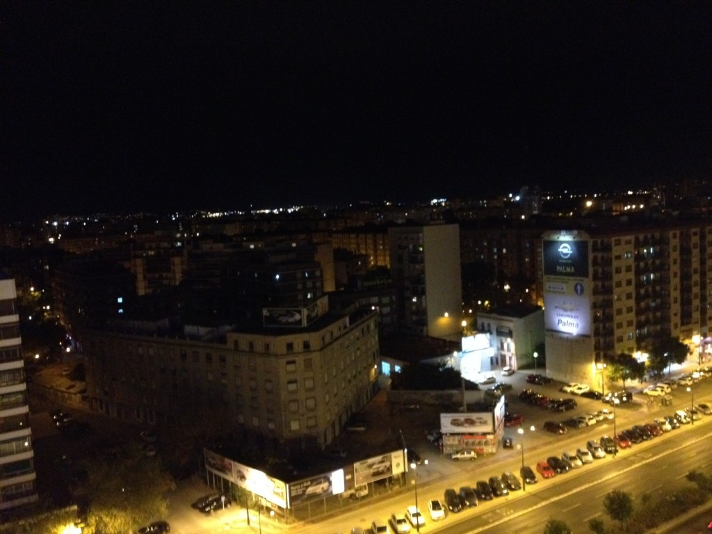 valencia buildings at night
