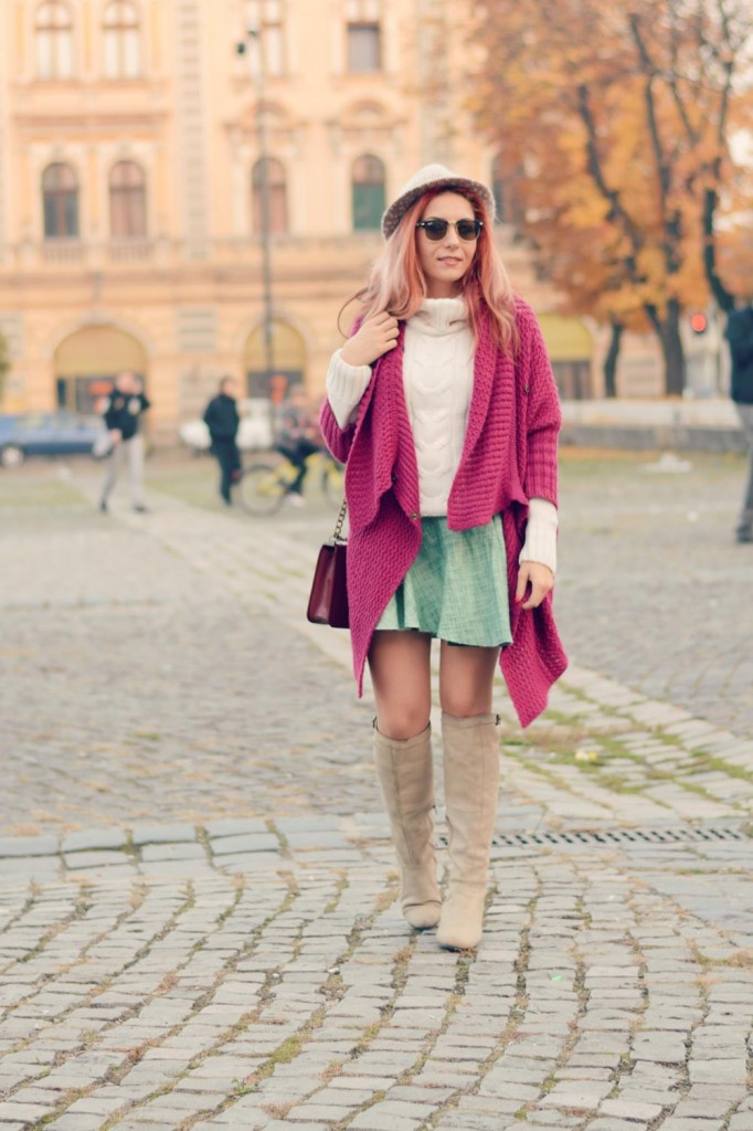 knee high boots knits