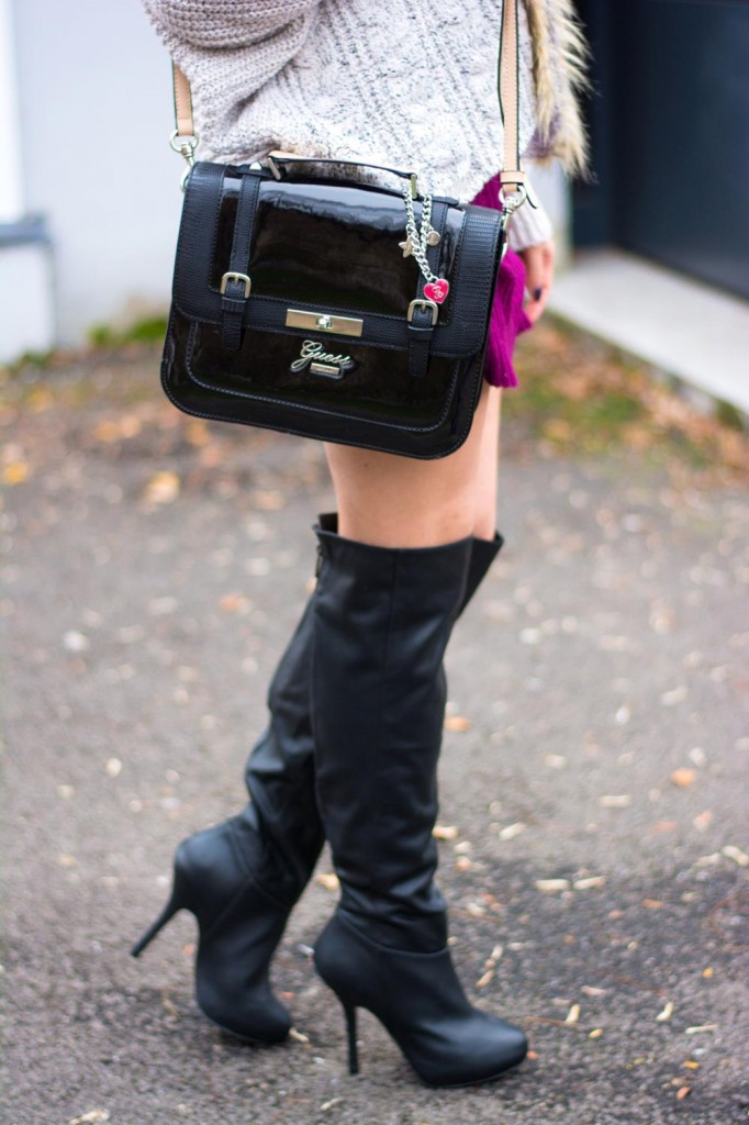 over the knee boots guess satchel