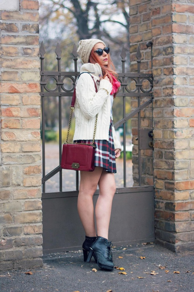 fashion blogger winter skirt style