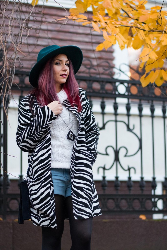 wearing zebra print