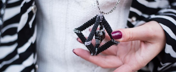 crystal skull pendant