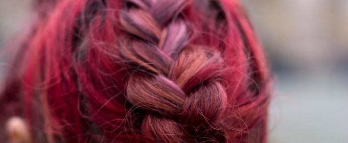 redhead braided hairdo