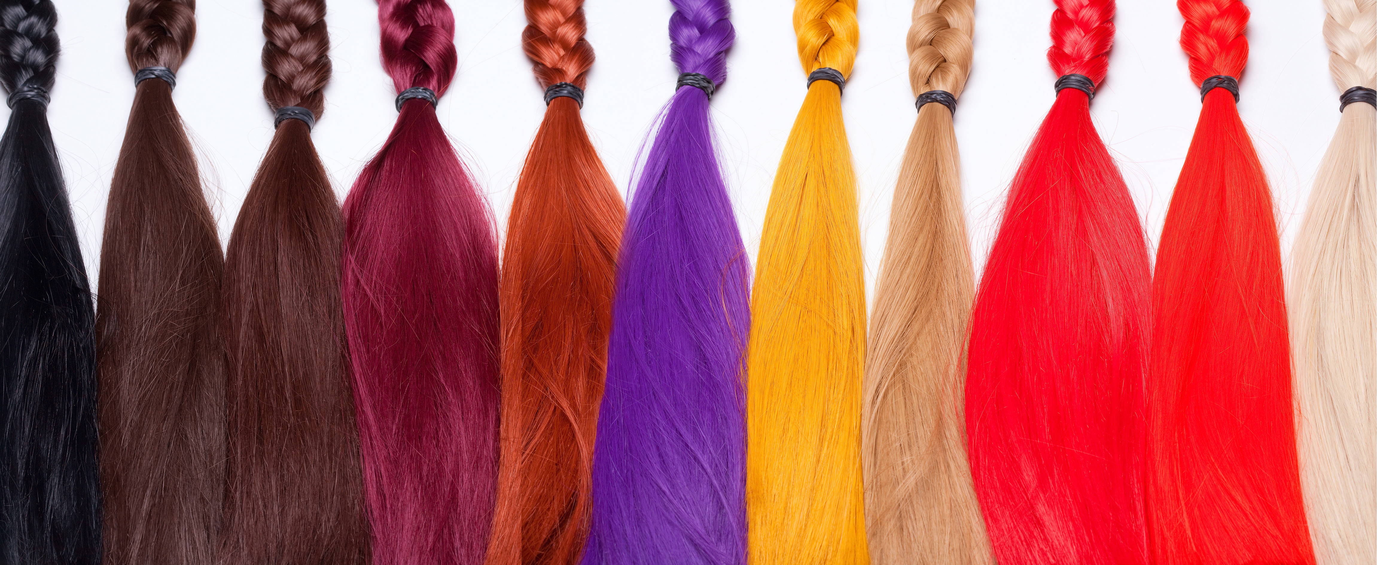 colored ombre using natural hair extensions b�rar
