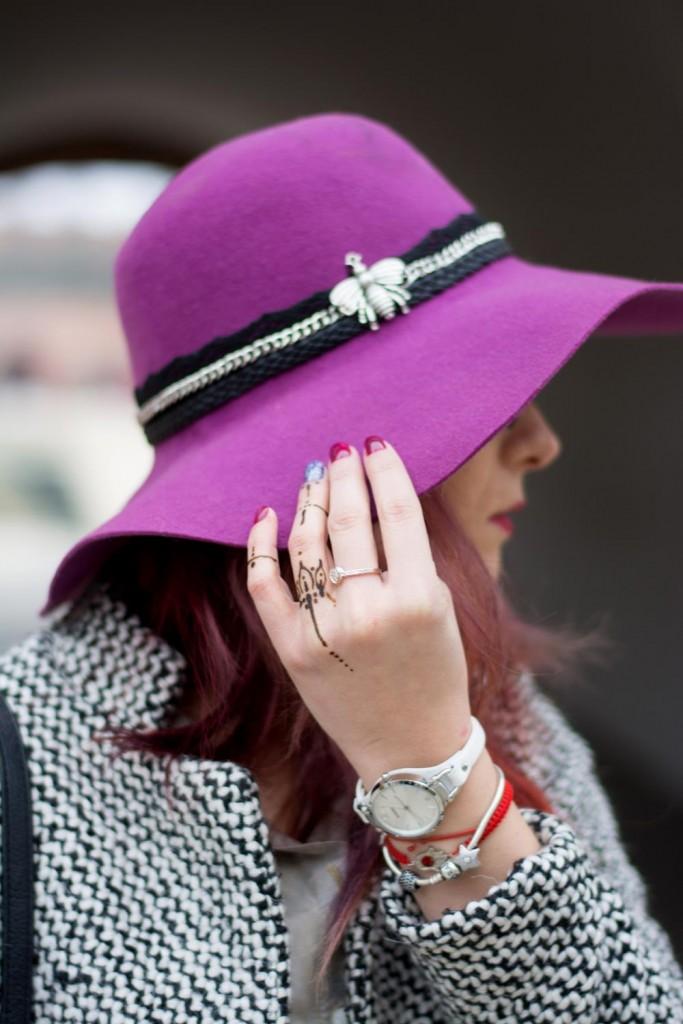 diy purple hat