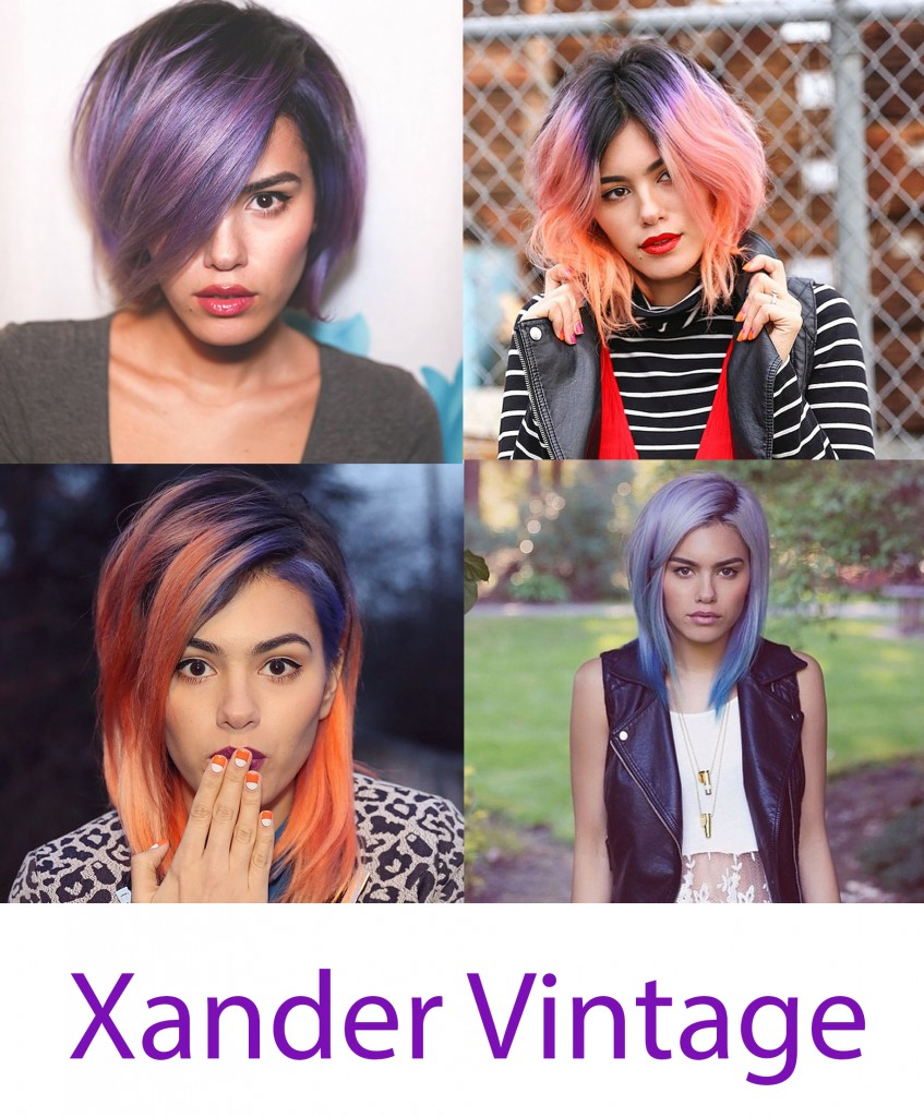 xander vintage colored hair blogger