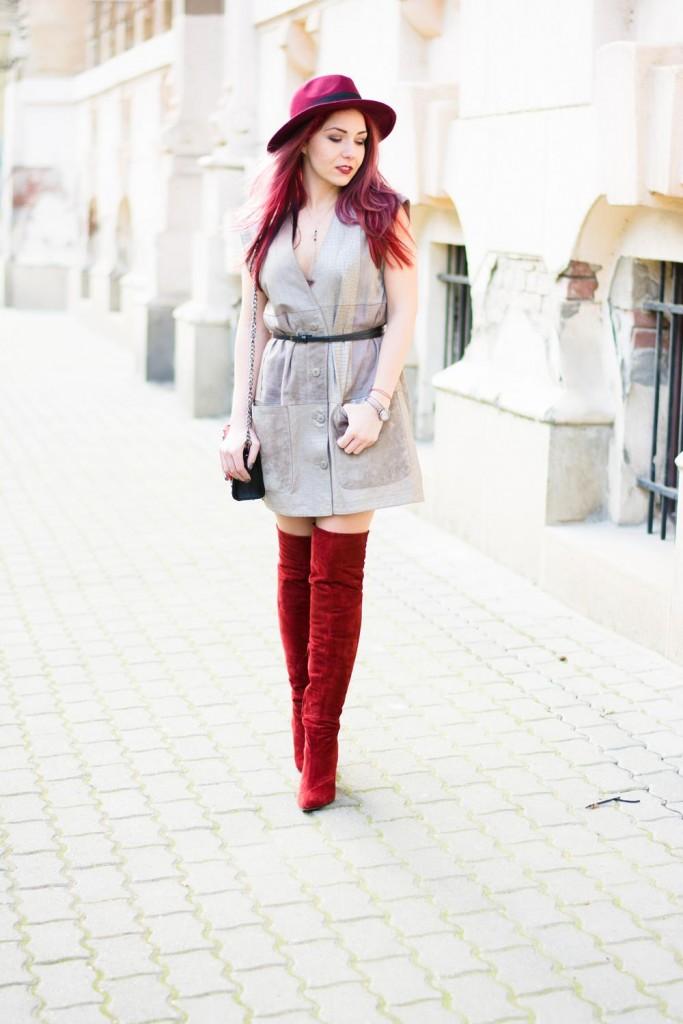 leater waistcoat as dress