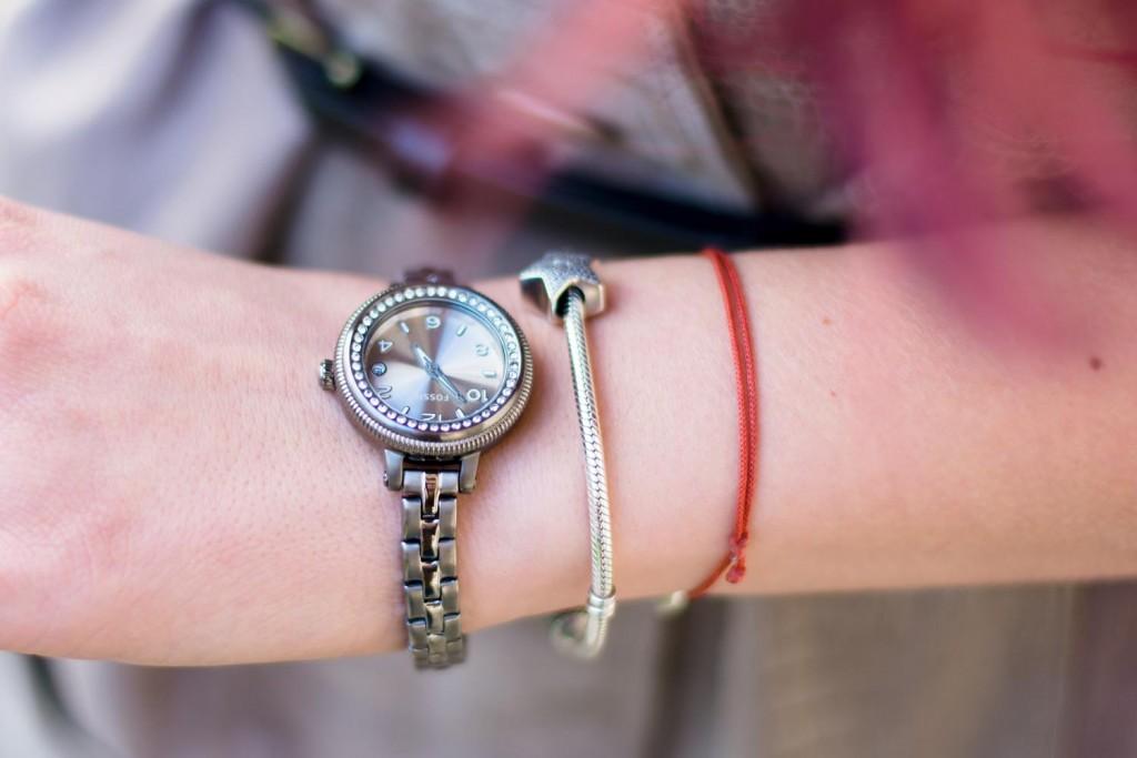 fossil bridgette watch pandora charm