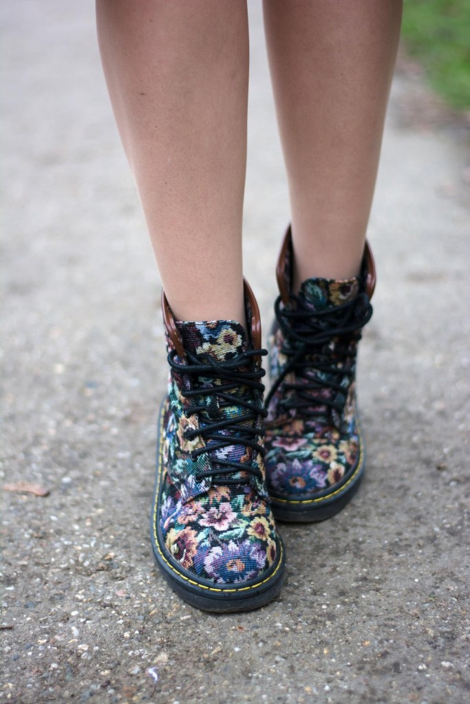 flower printed boots