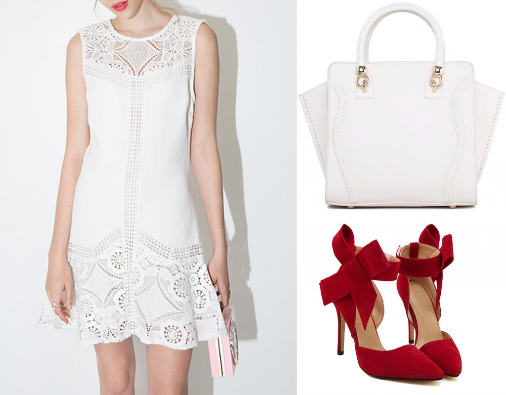 white outfit under 100$
