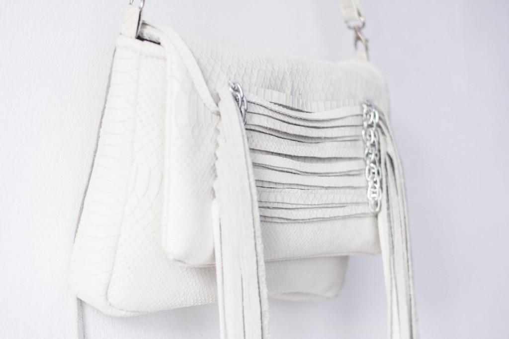 fringe leather handbag