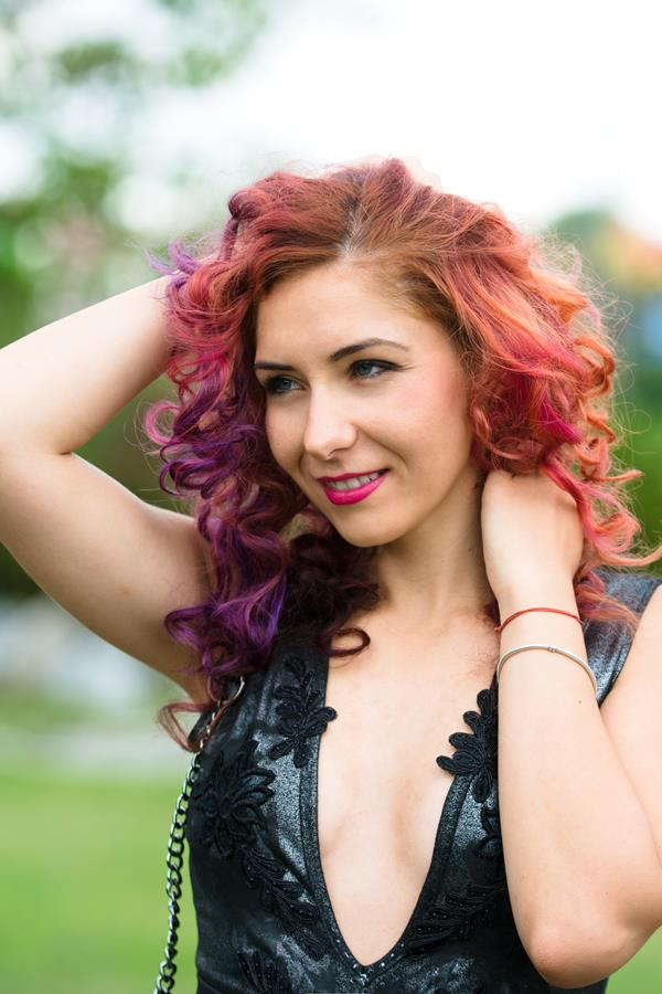 purple hair color pravana