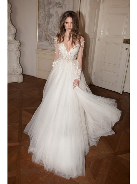 diaphane wedding dresses