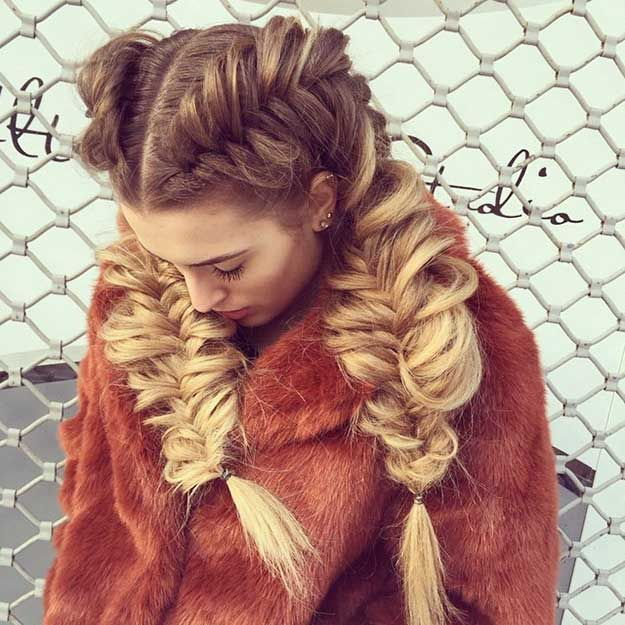 side french braids