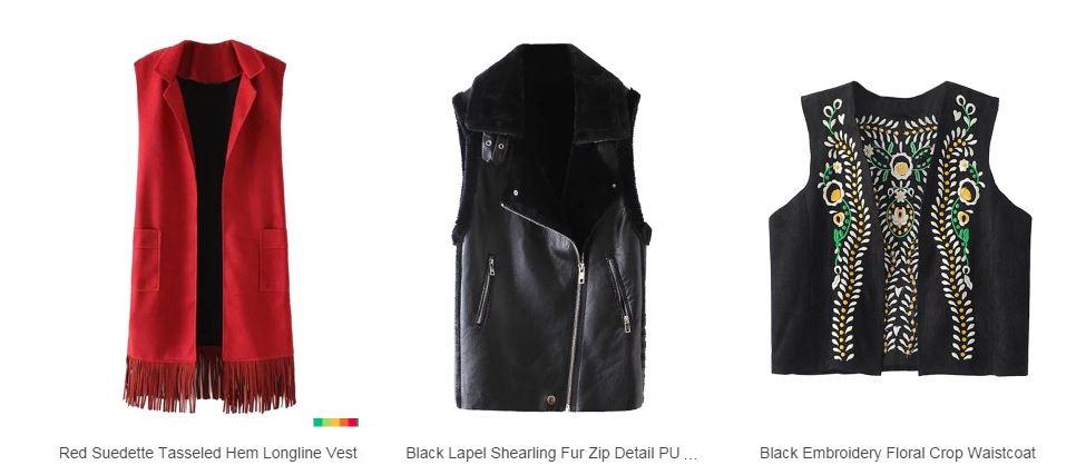 types of vests