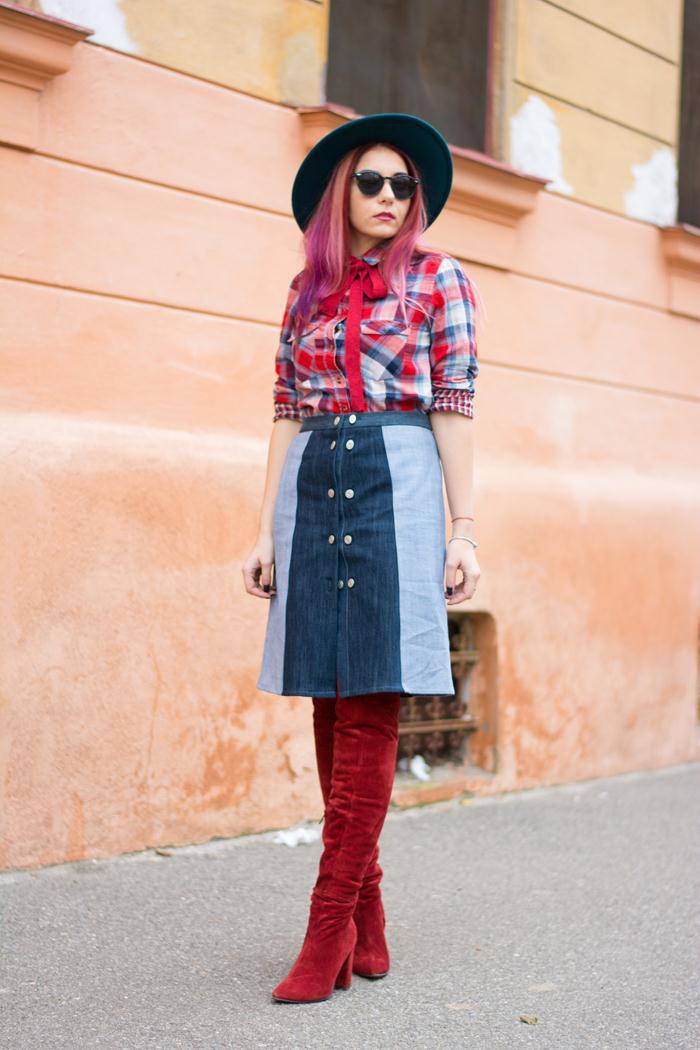 the jean skirt