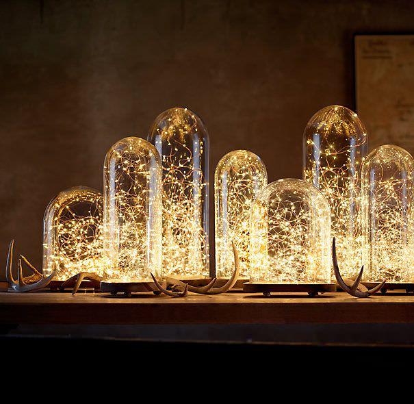 glass dome lights diy