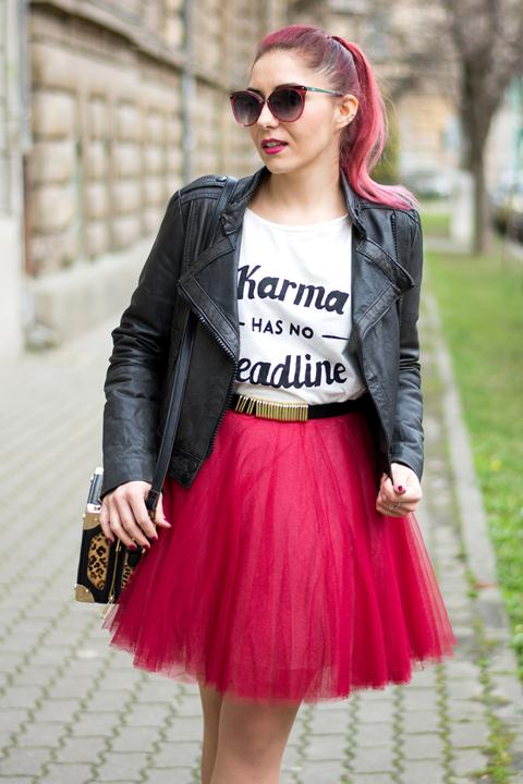 funny top tulle skirt rock chic