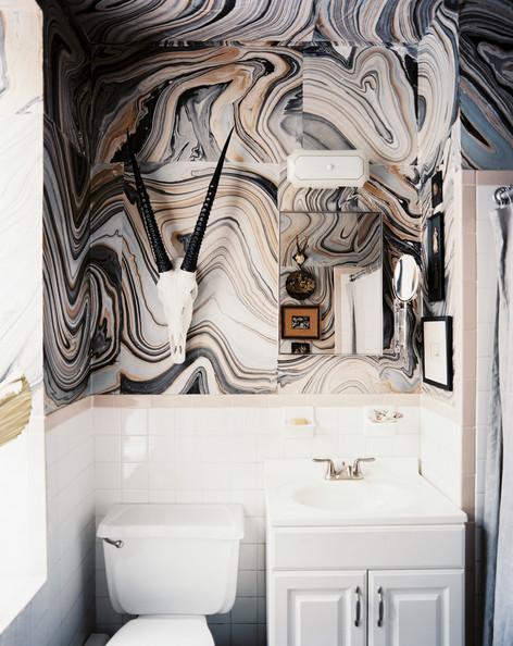 animal skull bathroom idea