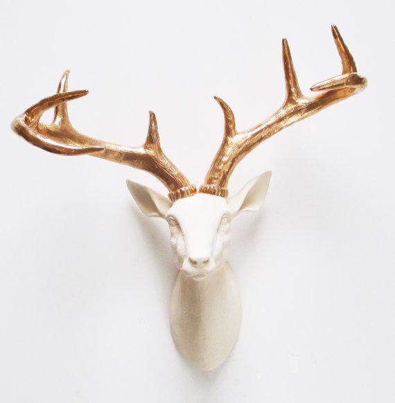 gold deer home decor