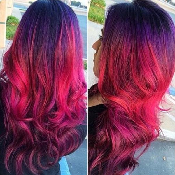 red purple hair