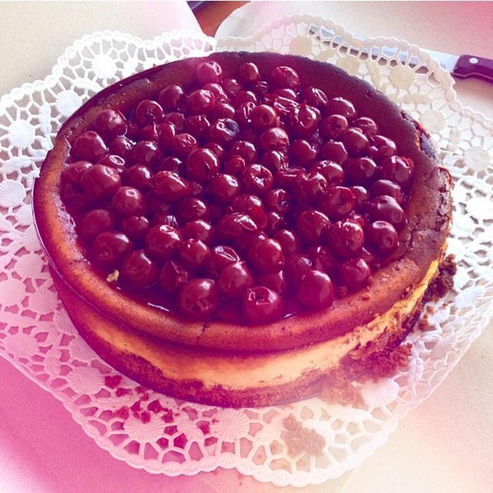 new york cheesecake recipe with sour cherries